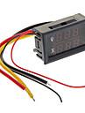 """0.28 """"빨간 LED + 블루 듀얼 디스플레이 디지털 방식으로 전류 전압 미터 / 암페어 전압 미터 - 블랙 (10A)"""