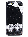Lace Bowknot Metal Jewelry Back Case for iPhone 5C