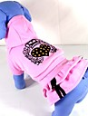 Dog Dress Pink Dog Clothes Winter Tiaras & Crowns / Hearts
