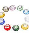 Mode Forme Oblats multicolores perles en cristal de bricolage 10pcs