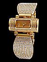 Femme Montre Tendance Bracelet de Montre Imitation de diamant Quartz Acier Inoxydable Bande Etincelant Elégantes Argent Doré