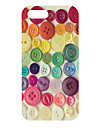 Colorful Buttons Pattern Hard Case for iPhone 5/5S