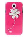 Embossed Chrysanthemum Pattern Hard Back Cover Case with Glue for Samsung Galaxy S4 I9500