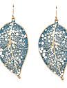 Earring Leaf Drop Earrings Jewelry Women Daily Alloy Gold