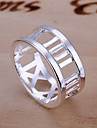 (1 шт) сладостных Женская Серебряный медное кольцо (размер 8 #)