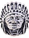lureme®alloy anneau de portrait tête d'indien