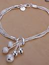 Sweet 20cm Women's Silver Copper Charm Bracelet(Silver)(1 Pc) Jewelry