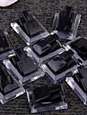 10шт ЧЕРНЫЙ Ясно ювелирных изделий кольца Показать Витрина стенд держатель