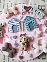 Bonito Mold Dog Toy Silicone Fondant Moldes Sugar Craft Moldes de chocolate para bolos