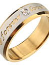 Simple Men's Golden Carved Band Rings (8#)