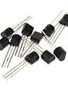 3-Pin Triode Transistor pour DIY Project - Noir (20 x 10 Piece Pack)
