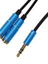 3,5 мм для наушников Мужской до 2 Женский Splitter Cable Blue (0,3 М)