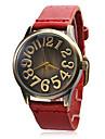 Женские Модные часы Кварцевый Группа Винтаж Черный Белый Синий Красный Коричневый Зеленый Хаки