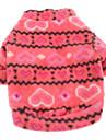 Собаки Толстовка Розоватый Одежда для собак Зима Весна/осень Сердца На каждый день Сохраняет тепло