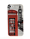 Big Ben and Telephone Booth Pattern Plastic Hard Case for iPhone 5/5S