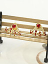 Korean jewelry diamond earrings earrings earrings lovely letter kiss (random color)