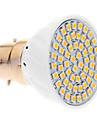 5W B22 Lâmpadas de Foco de LED 60 SMD 3528 420 lm Branco Quente AC 220-240 V