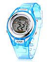 아동 스포츠 시계 패션 시계 손목 시계 석영 LCD 방수 실리콘 밴드 멋진 블루 상표