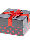 Bowknot Decor Dot Pattern Cubic Watch Box