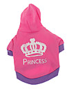 Dog Hoodie Dog Clothes Casual/Daily Tiaras & Crowns Rose