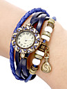 Women's Bracelet Watch Casual Watch Quartz Band Vintage Bohemian Black White Blue Red Orange Brown Green Pink