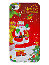 Christmas Series Father Christmas with Many Gifts Pattern Hard Case for iPhone 4/4S