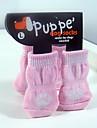 Розовые Подушечки Мода Носки с нескользящей для домашних животных собак и кошек