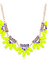 Lureme®Colorful Crystals Resin Statement Necklace