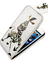Zebra cartoon Up-Down Turn Over cas Bady complet PU en cuir pour iPhone 5/5S