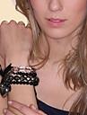 Black Heart Butterfly Strand Bracelet
