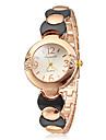 Женская Простой Круглый циферблат сплава группы кварцевые аналоговые часы браслет (разных цветов)