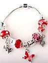 красные бусы браслет для женщин европейский стиль ручной работы из бисера браслеты