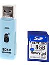Привет скорость Ультра карты памяти SD 8G с 2-в-1 кард-ридер
