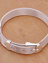 Мода 6.3cm Мужская Серебряный медный плетеный & ссылка браслет (1 шт)
