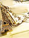 Bijoux européens et américains Tour Eiffel collier de perles N125
