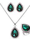 Fahion Ilver позолоченными (ожерелье&серьги&кольцо) gemtone ювелирные изделия и др (Ilver)