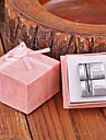 Персональный подарок Прямоугольник серебристого металла с гравировкой запонки с горный хрусталь