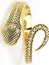 Serpent Quatz des femmes Bracelet d'or analogique montre-bracelet