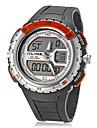 Мужской Спортивные часы электронные часы LCD Линейка Календарь Секундомер Защита от влаги С двумя часовыми поясами Кварцевый Цифровой