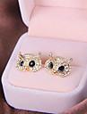 Rétro boucles d'oreille en diamant de hibou de mode boucles d'oreilles fines haut de gamme E822