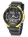 Мужские кварцевые наручные часы на резиновом ремешке с LCD экраном, цвета в ассортименте