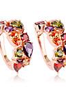 Earring Hoop Earrings Jewelry Women Daily Crystal / Alloy / Zircon