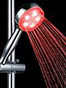 3-Цветовая температура Обнаруживаемая ABS LED Цвет Изменение ручной душ