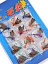 12 개 파일 루어 팩 낚시 미끼 루어 팩 파일 다양한 색상 g/온스 mm 인치,메탈 루어 낚시