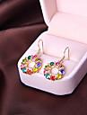 Versão coreana das senhoras da moda brincos bonitos temperamento rodada brinco de diamante minimalista E824