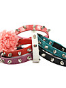 Cat / Dog Collar Rock / Adjustable/Retractable / Rhinestone Red / Black / White / Green / Purple / Rose PU Leather
