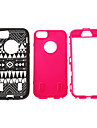 Tribal Grain 3 in 1 Plastic Silicone Case for iPhone 5/5S