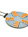 3W G4 Точечное LED освещение 15 SMD 5630 180-320 lm Тёплый белый DC 12 V
