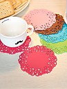 Hollow Out Pattern Silicone Cup Mat (1 PCS)