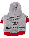 Dog Hoodie Blue / Gray Dog Clothes Winter / Spring/Fall Letter & Number Casual/Daily / Sports